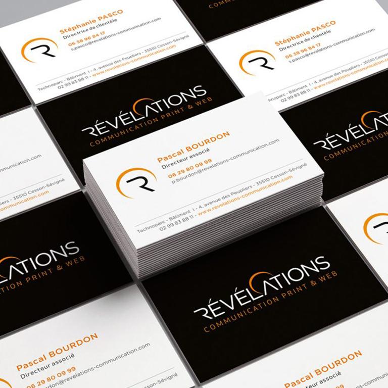 cartes de visite Révélations communication