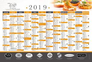 Calendrier grand format GSP