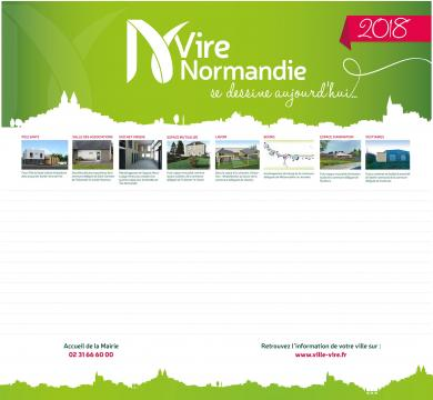 Calendrier grand format Vire Normandie