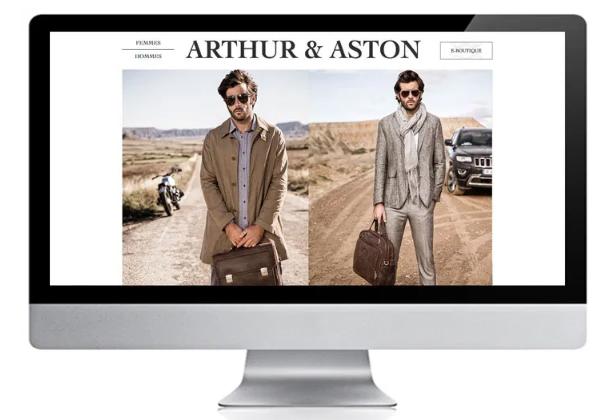 création digital : site e-commerce - arthur & aston