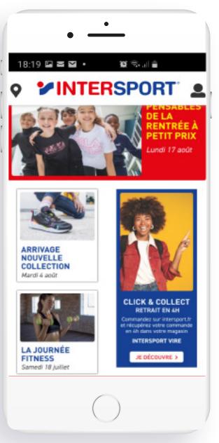 Application Happy-Fid - Intersport - Agence digitale à Rennes